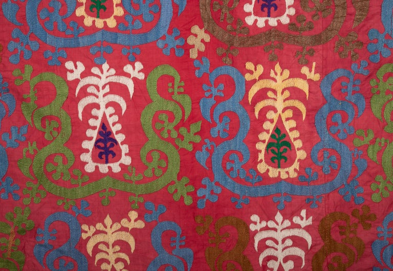 Embroidered Vintage Suzani from Samarkand, Uzbekistan, 1970s For Sale
