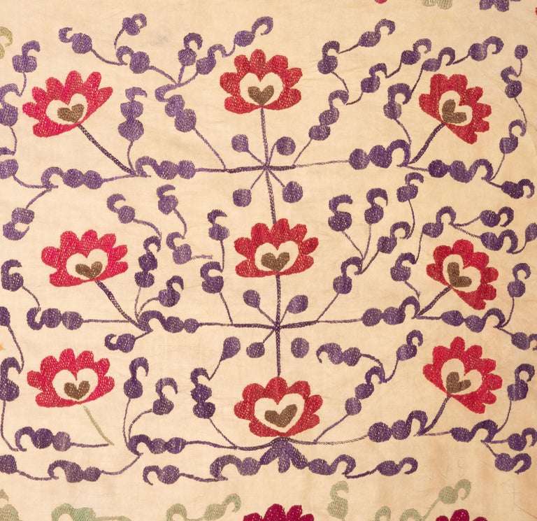 20th Century Vintage Suzani from Samarkand, Uzbekistan, 1970s For Sale