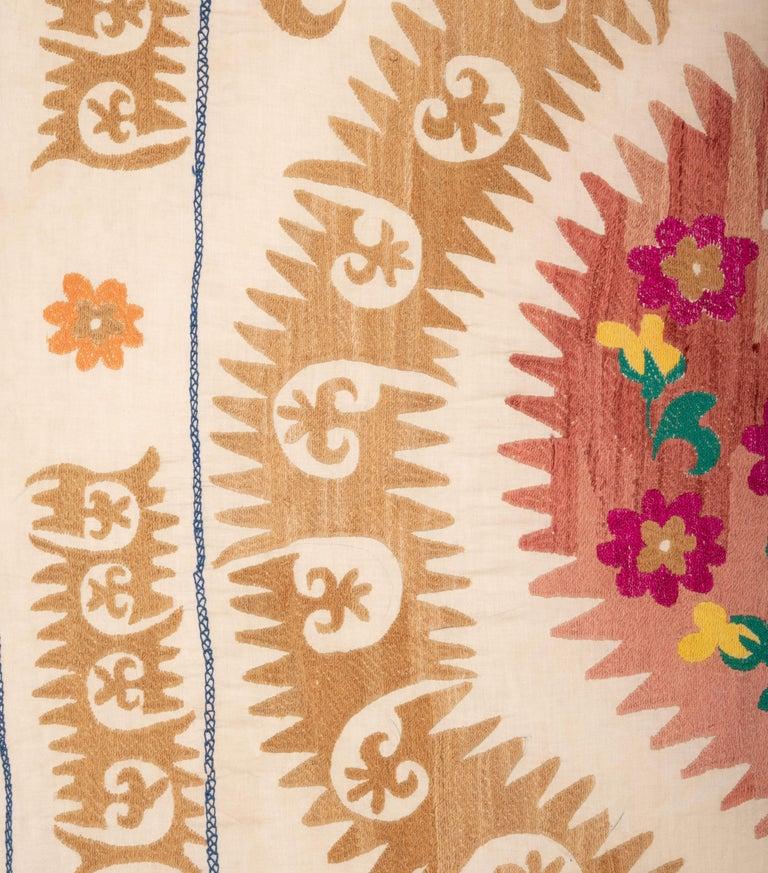 20th Century Vintage Suzani from Samarkand Uzbekistan, 1970s For Sale