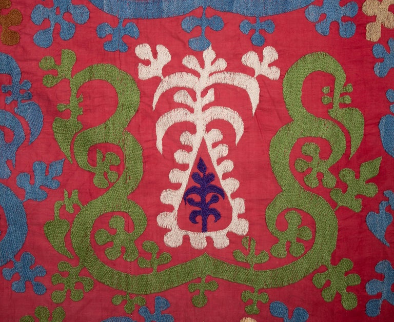 20th Century Vintage Suzani from Samarkand, Uzbekistan, 1970s For Sale