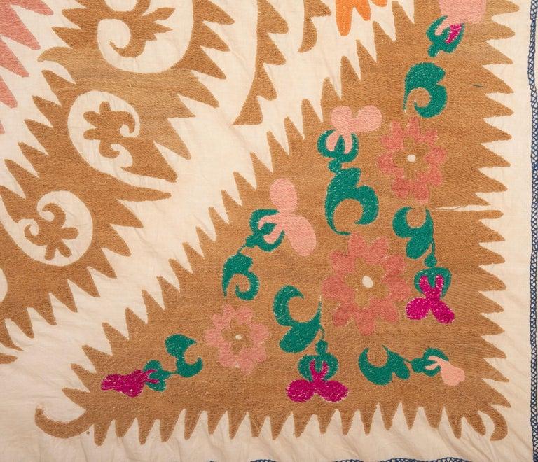 Cotton Vintage Suzani from Samarkand Uzbekistan, 1970s For Sale
