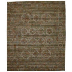 Vintage Suzani Kilim Rug with Embroidered Bohemian Style