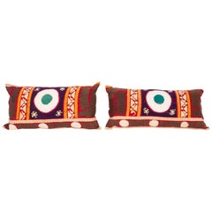 Vintage Suzani Pillow Cases / Cushion Covers Made from a Mid-20th Century Suzani