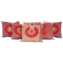 Vintage Suzani Pillow Cases Fashioned from an Samarkand Uzbek Suzani 1960s
