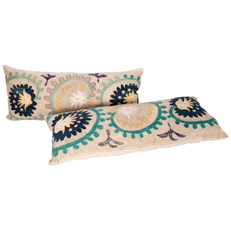 Vintage Suzani Pillow Cases from Uzbekistan, Mid-20th Century