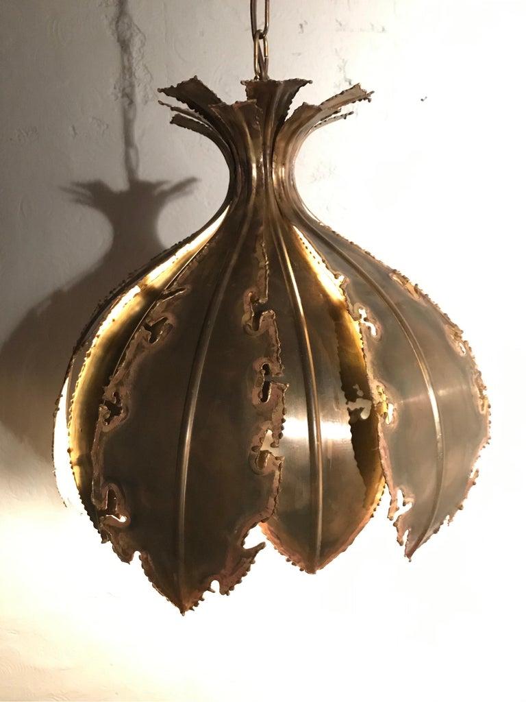Brass Vintage Svend Aage Holm Sørensen Chandelier Pendant Lamp For Sale