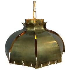 Vintage Svend Aage Holm Sørensen Chandelier Pendant Lamp