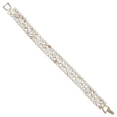 Vintage Swarovski Crystal Cocktail Bracelet by Weiss, 1950s