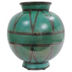 Vintage Swedish Art Deco Vase by Wilhelm Kåge, Gustavsberg, Sweden