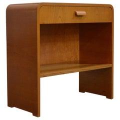 Vintage Swedish Art Moderne Night Stand or Table in Golden Elm