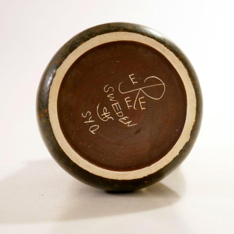 20th Century Vintage Swedish Brown Pitcher Vase Carl-Harry Stålhane for Rörstrand For Sale