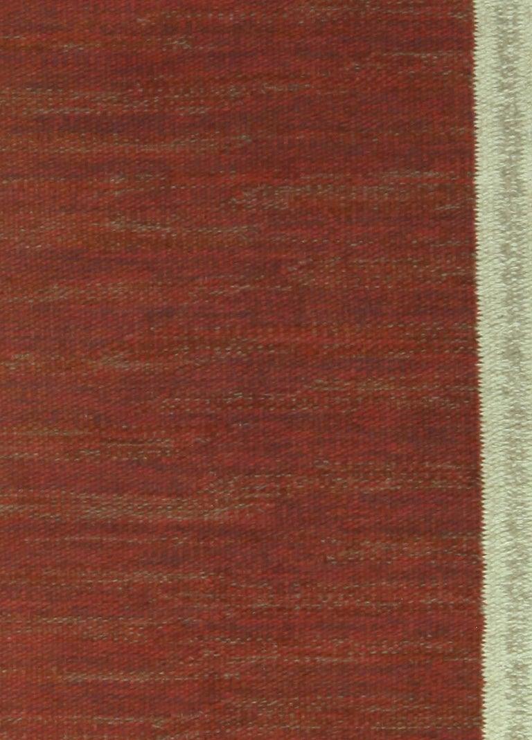 Vintage Swedish brown rug Size: 4'7