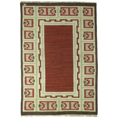 Vintage Swedish Brown Rug