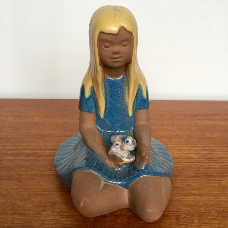 Scandinavian Modern Vintage Swedish Ceramic Figurine