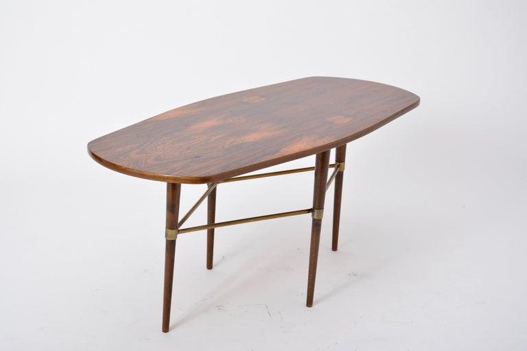 Veneer Swedish Mid-Century Modern coffee table by Förenades Möbler For Sale