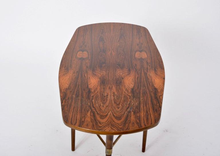 Brass Swedish Mid-Century Modern coffee table by Förenades Möbler For Sale