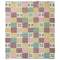 Vintage Swedish Flat-Weave by Märta Måås-fjetterström 'Rutmattan'