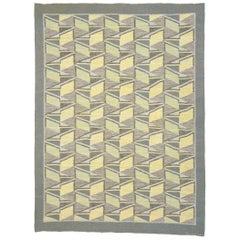 Vintage Swedish Flat Weave Rug by Brita Grahn