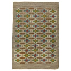 Vintage Swedish Flat-Weave Rug by Judith Johansson