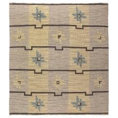 Vintage Swedish Flat-Weave Rug by Södra Kalmar