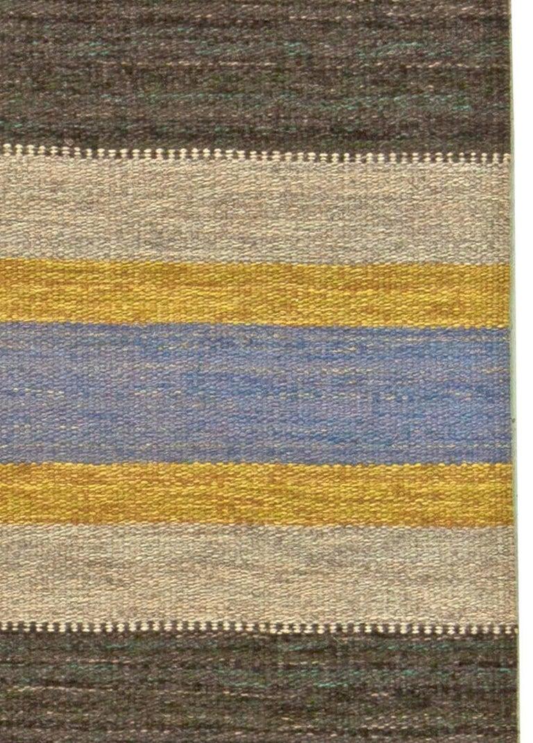 20th Century Vintage Swedish Flat-Weave Rug For Sale