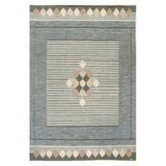 Vintage Swedish Flat-Weave Rug Signed by Ingegerd Silow