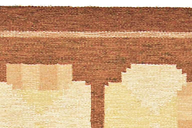 Vintage Swedish Flat-Woven Rug In Good Condition For Sale In New York, NY