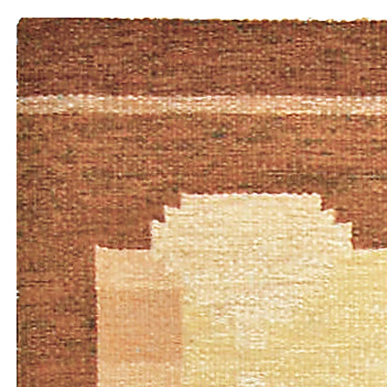 20th Century Vintage Swedish Flat-Woven Rug For Sale