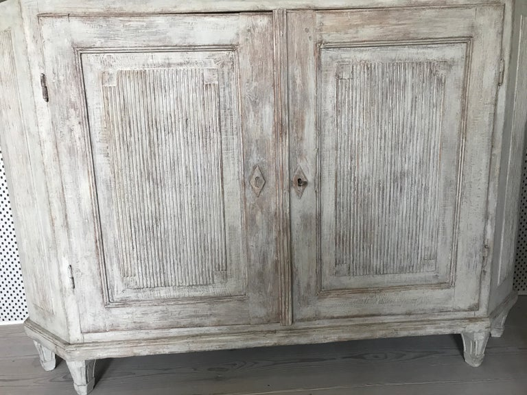 Painted Vintage Swedish Gustavian Cabinet For Sale