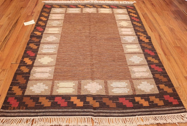 20th Century Vintage Swedish Kilim by Ana Joanna Angstrom. Size: 4 ft 8 in x 6 ft 7 in  For Sale