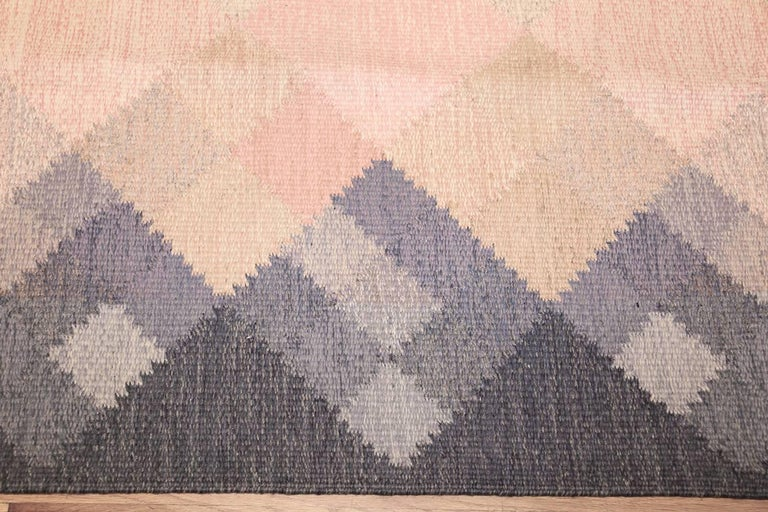 20th Century Vintage Swedish Kilim by Britta Swefors. Size: 6 ft 6 in x 9 ft 3 in  For Sale