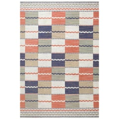Vintage Swedish Kilim by Marta Maas Fjetterstrom. Size: 6 ft 7 in x 9 ft 9 in