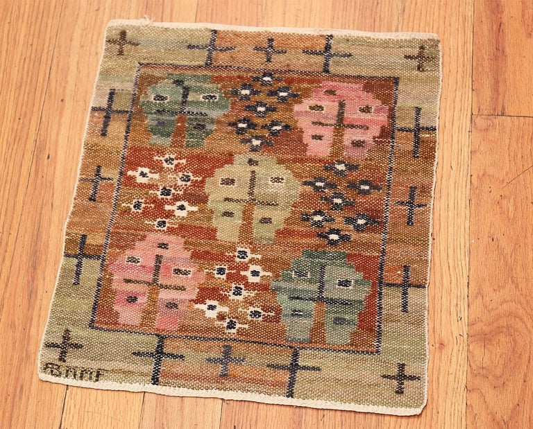 Vintage Swedish Kilim by Marta Maas In Good Condition For Sale In New York, NY