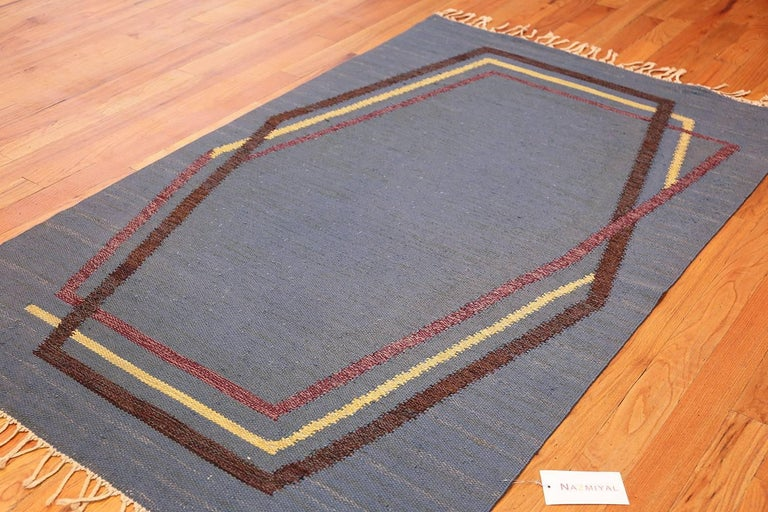20th Century Vintage Swedish Kilim Rug by Brita Grahn. Size: 4 ft x 6 ft 8 in  For Sale