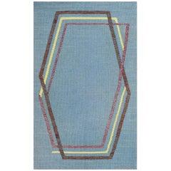 Vintage Swedish Kilim Rug by Brita Grahn. Size: 4 ft x 6 ft 8 in