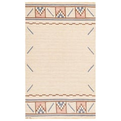Vintage Swedish Kilim Rug by Ellen Stahlbrand. Size: 3 ft 6 in x 5 ft 9 in