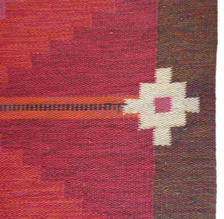 Scandinavian Modern Vintage Swedish Kilim Rug, circa Mid-20th Century For Sale