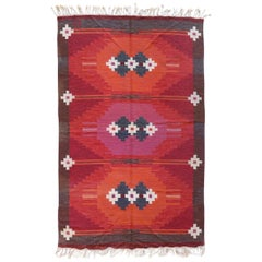 Vintage Swedish Kilim Rug, circa Mid-20th Century
