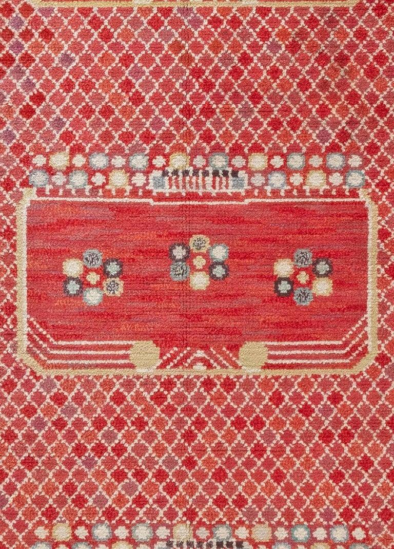 Vintage Swedish 'Krabban' (Crab) rug by Barbro Nilsson Size: 9'7