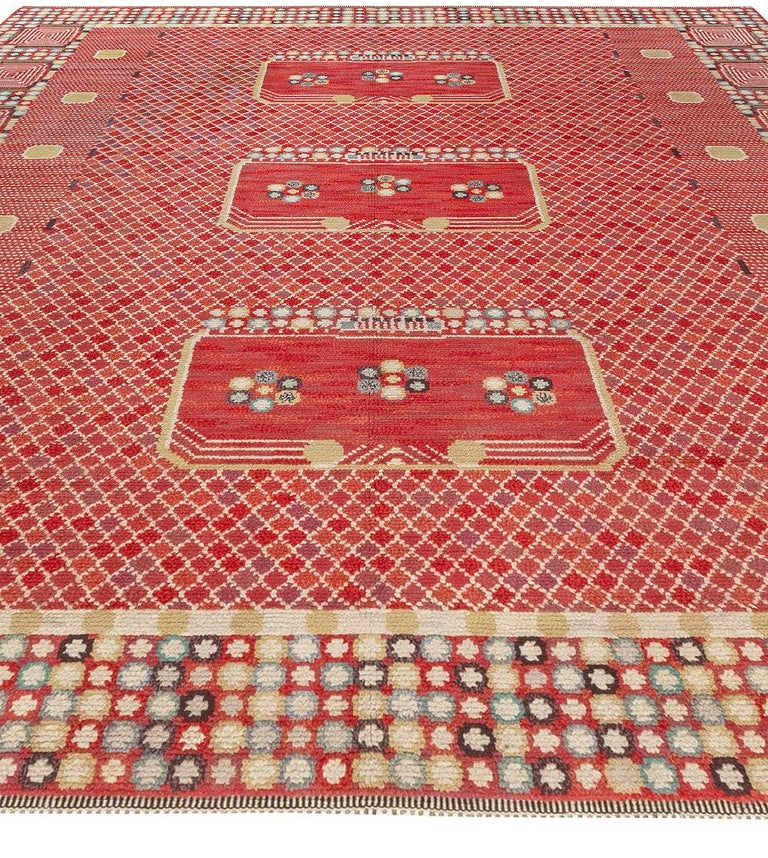 Vintage Swedish 'Krabban' 'Crab' Rug by Barbro Nilsson In Good Condition For Sale In New York, NY