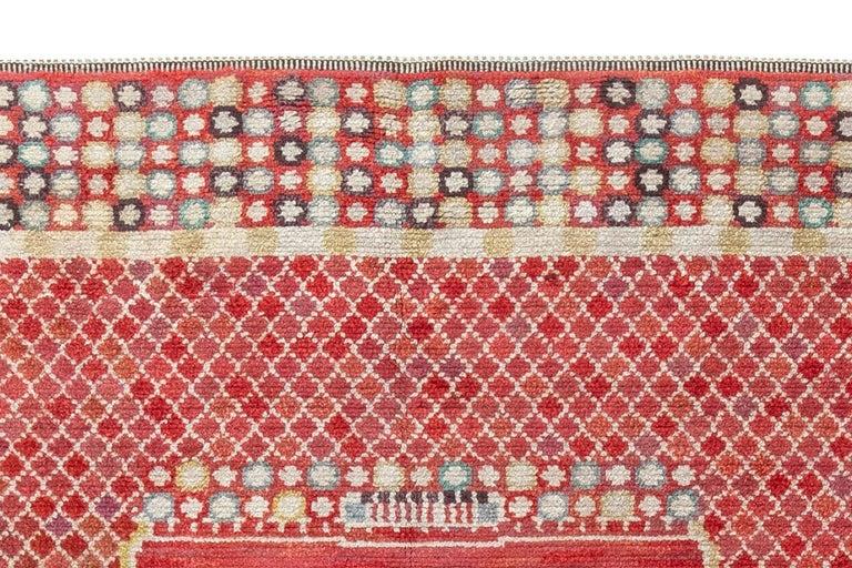 Wool Vintage Swedish 'Krabban' 'Crab' Rug by Barbro Nilsson For Sale