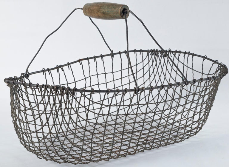 Vintage Swedish Market Baskets, circa 1920 In Good Condition For Sale In Chappaqua, NY