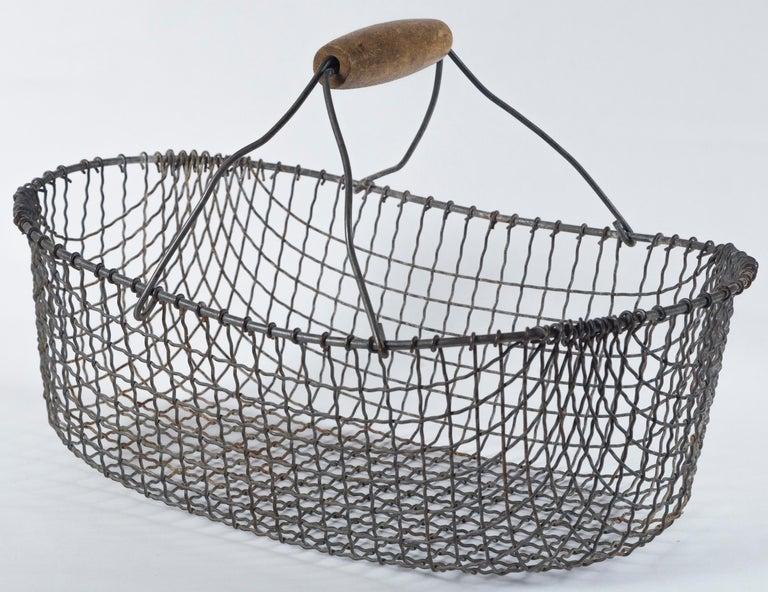 Metal Vintage Swedish Market Baskets, circa 1920 For Sale