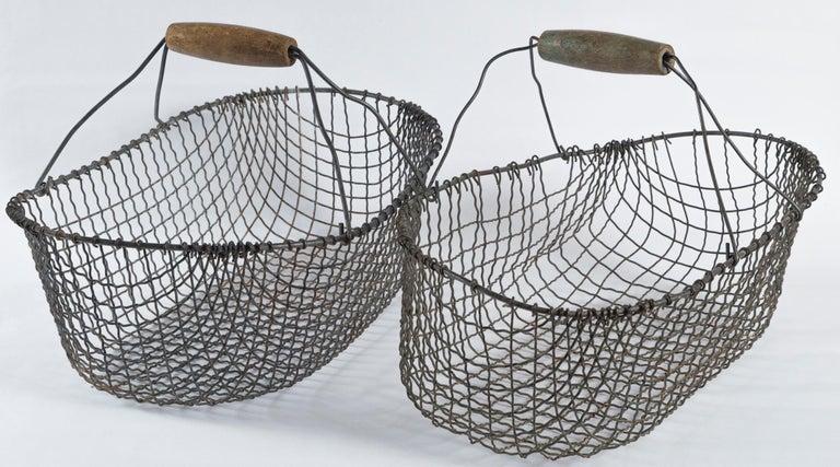 Vintage Swedish Market Baskets, circa 1920 For Sale 4