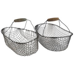 Vintage Swedish Market Baskets, circa 1920