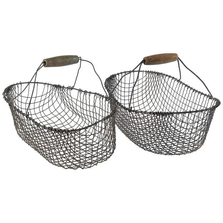 Vintage Swedish Market Baskets, circa 1920 For Sale