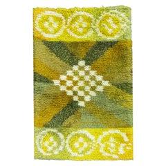 Vintage Swedish Modern Abstract Shag Rug