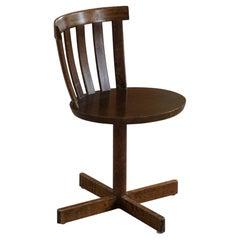 Vintage Swedish Modernist Swivel Desk Chair in Beech, Made by Edsbyverken, 1960s