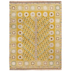 Vintage Swedish Pile Marianne Richter Rug For Marta Maas. Size: 3 ft 7 in x 4 ft