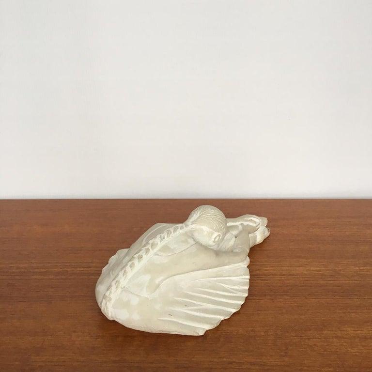 Vintage Swedish Plaster Ballerina Figurine For Sale 1